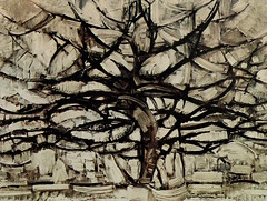 The Grey Tree 1911, oil on canvas, 30x42 in (78 × 107 cm) Gemeentemuseum, The Hague
