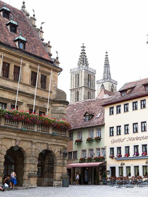 Rothenburg ob der Tauber. Middle Franconia. Bavaria. Germany