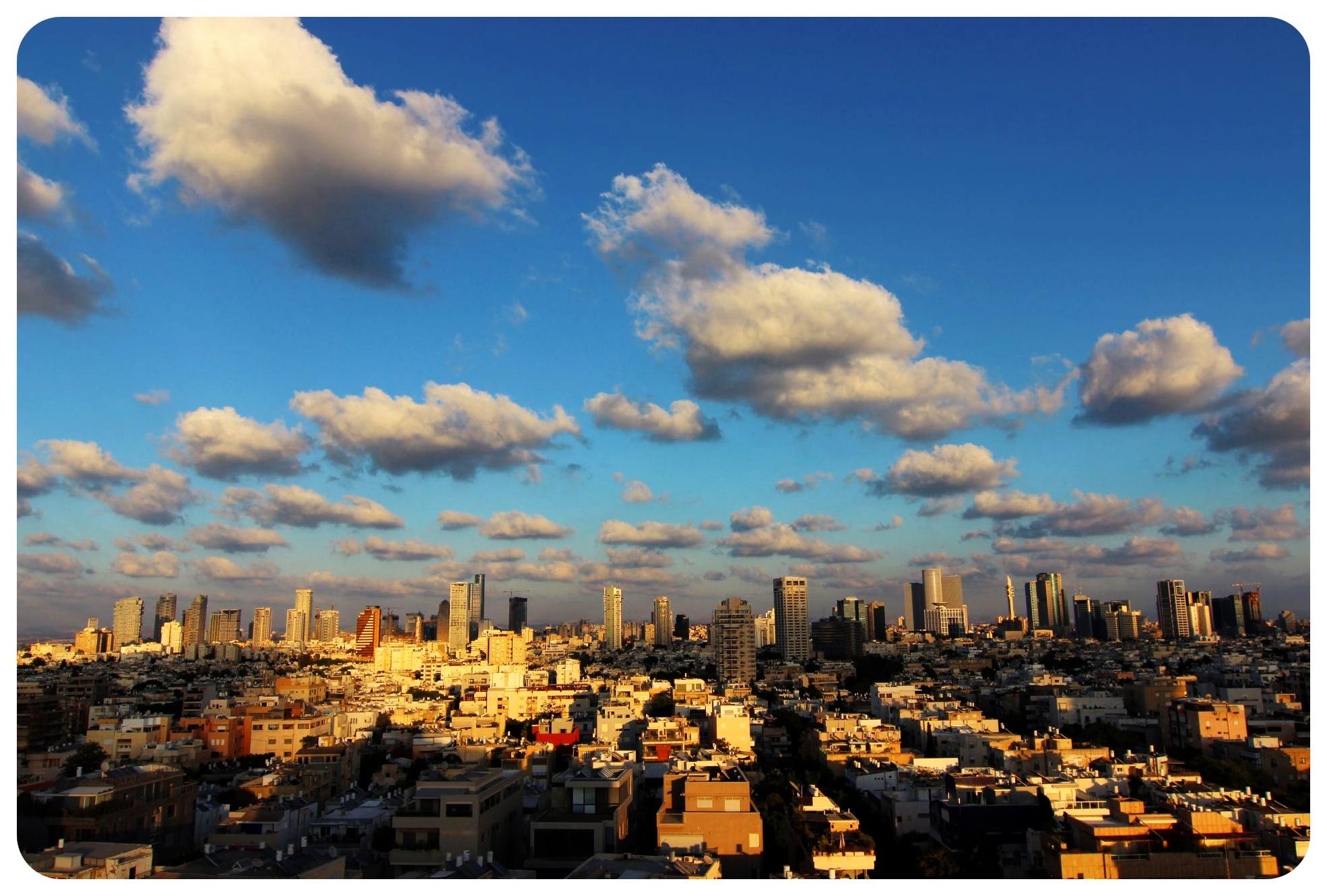 tel aviv clouds israel