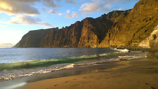 Image of Playa Los Guios. beach cliffs tenerife canaryislands losgigantes