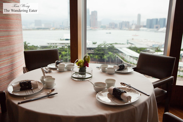 The coveted table by the windows to see the view of Hong Kong