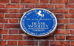 Photo of Frank Woolley blue plaque
