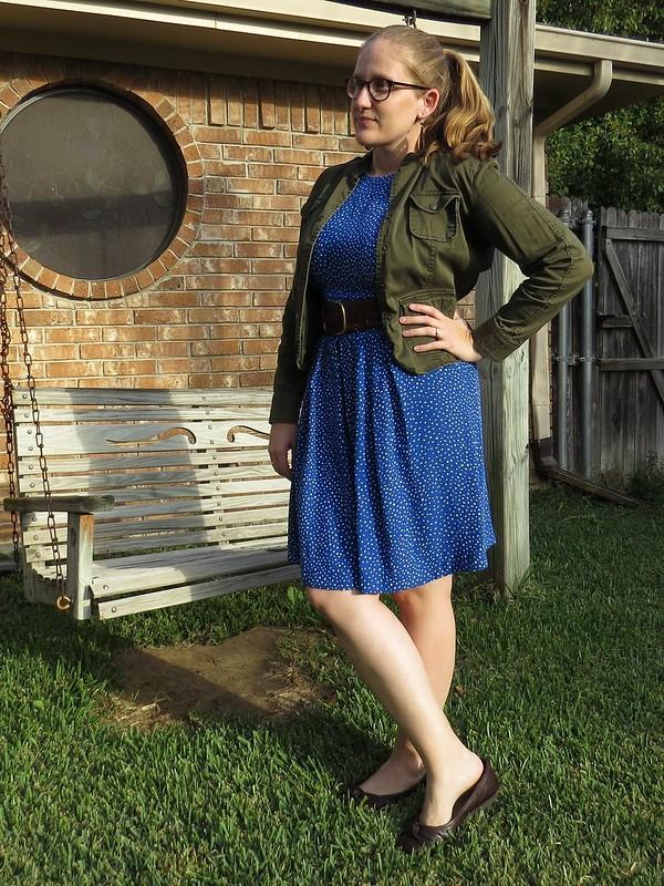 Blue Polka Dot Dress - After