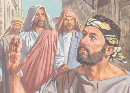 Jesus heals the blind