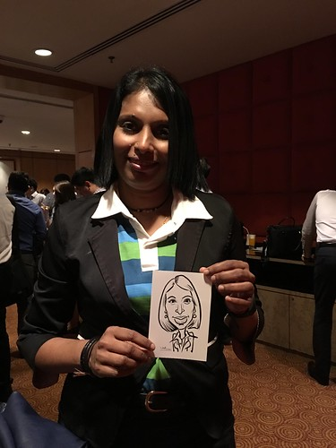 Digital caricature live sketching for Standard Chartered Bank Loyalty Award 2015