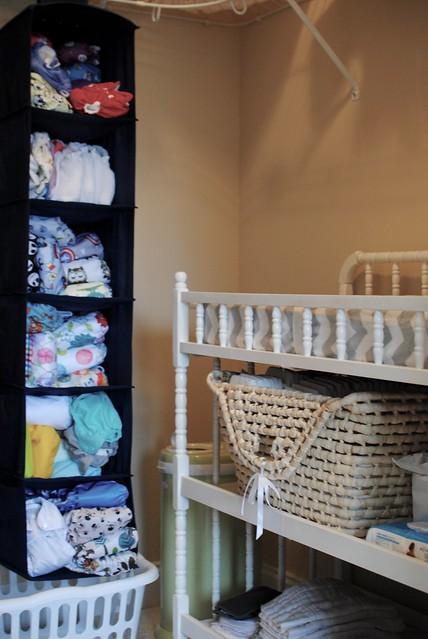 Closet Diaper Station