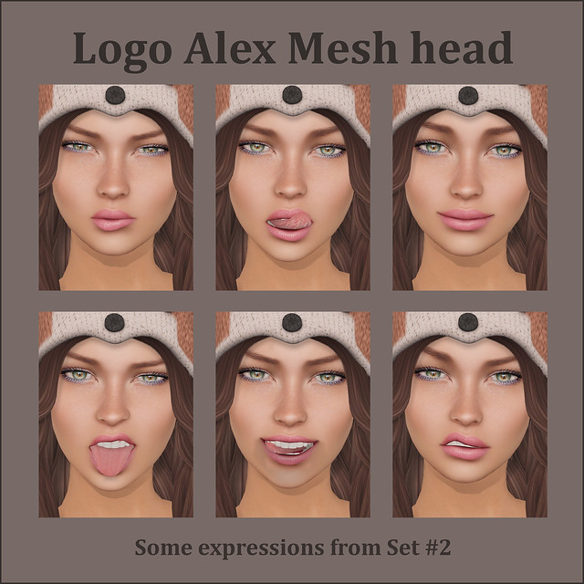 Logo Alex Mesh Head Expressions
