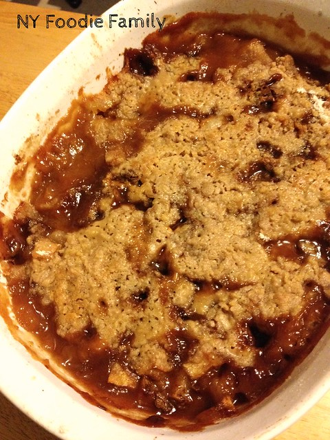 Halloween Candy Apple Crisp
