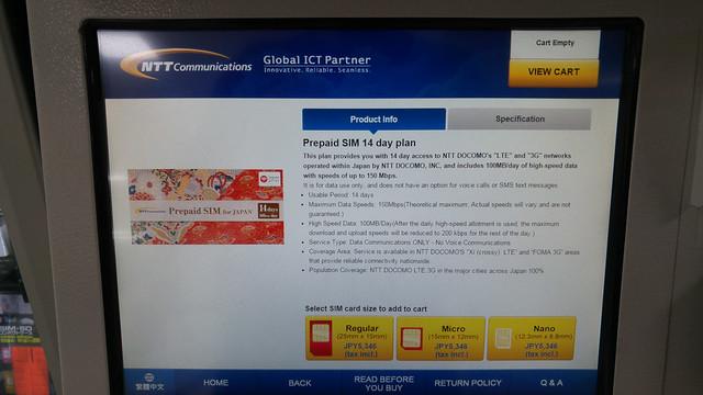 NTT DoCoMo Prepaid Data SIM