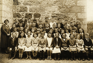 Wilma Wiseman at School in Oldmeldrum, circa 1937