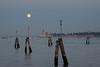 Moon rising in Venice