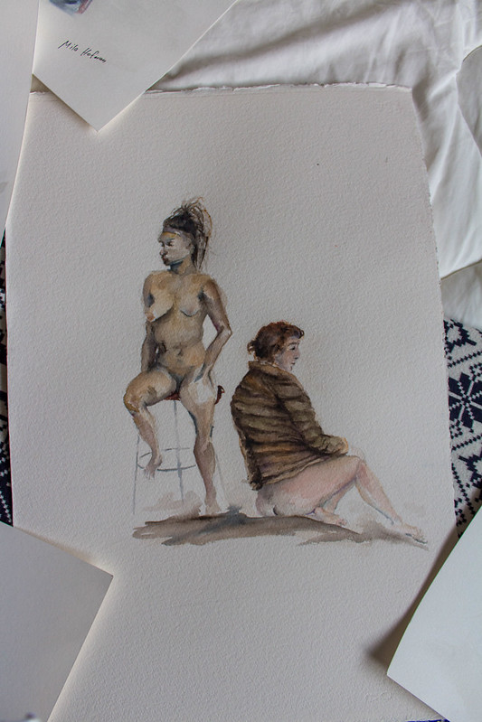 SFAI. Intro to life drawing works