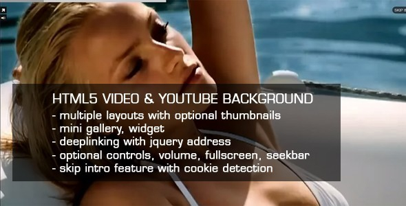CodeCanyon HTML5 Video & Youtube background v2.31