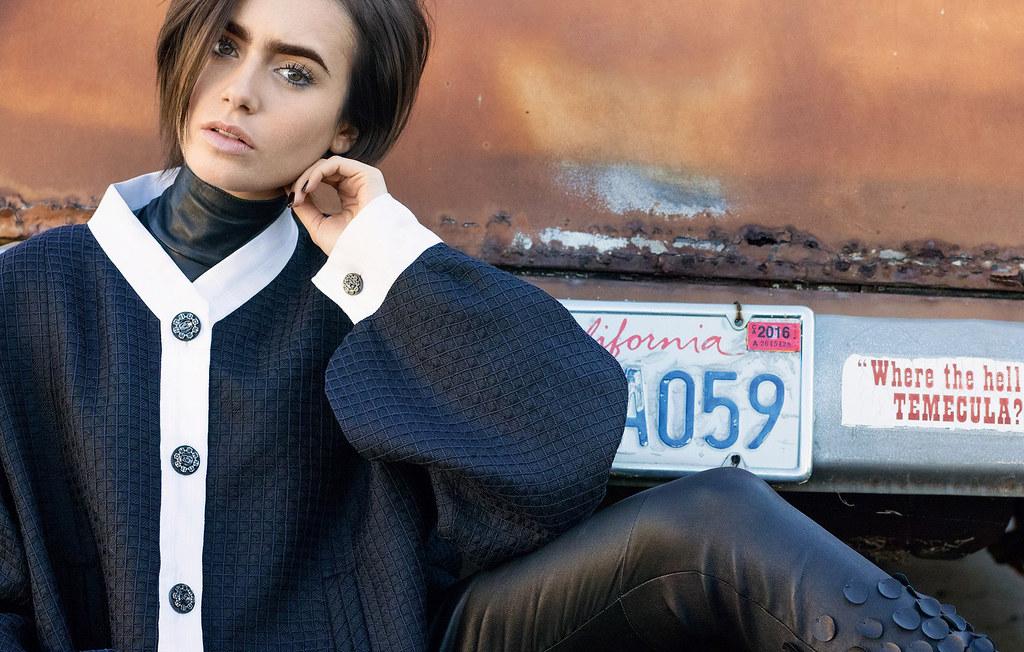 Лили Коллинз — Фотосессия для «Vogue» RU 2015 – 1