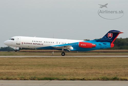 OM-BYC Slovak Government Flying Service Fokker F100