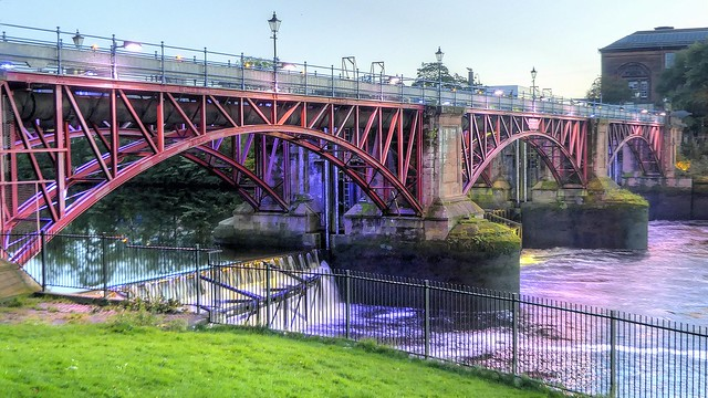 River Clyde Pipe Bridge and Weir - Glasgow