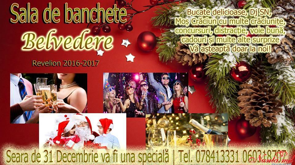 """Restaurantul Belvedere > Seara de 31 decembrie va fi una specială doar împreună cu Restaurantul """"Belvedere""""."""