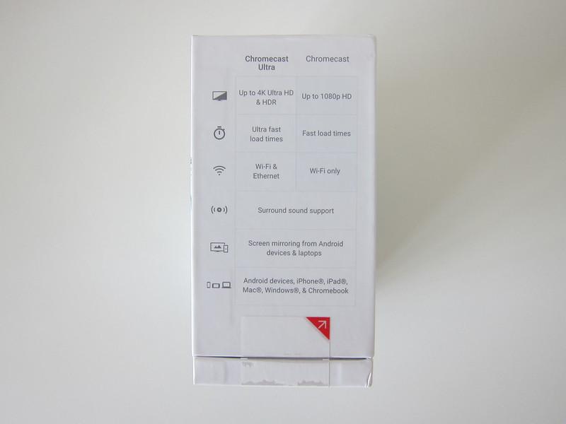 Google Chromecast Ultra - Box Side