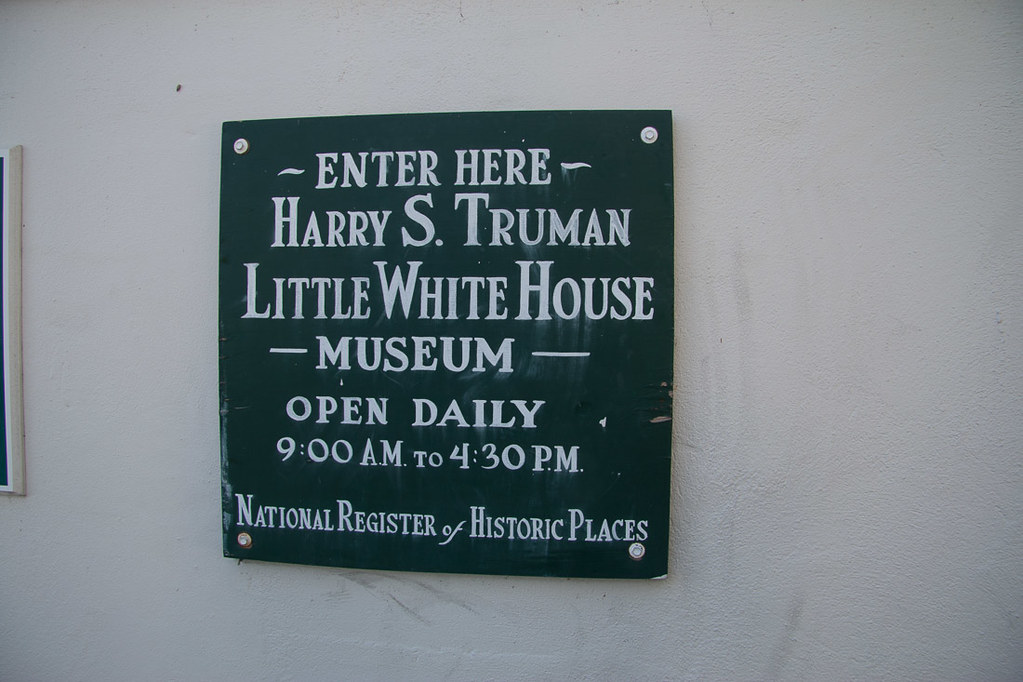 Entrance sign to Harry S. Truman Little White House Museum in Key West