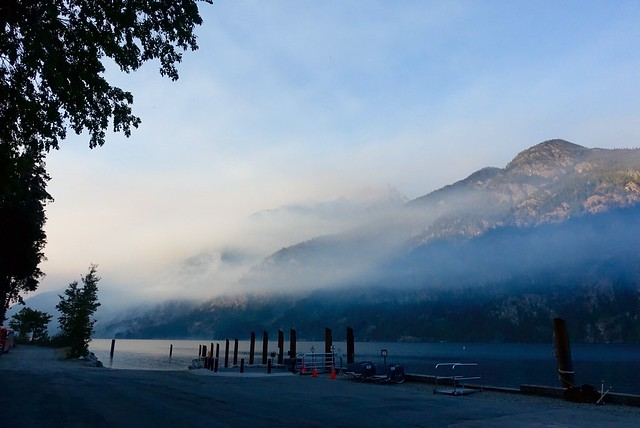 Stehekin, smoke blowing up-lake