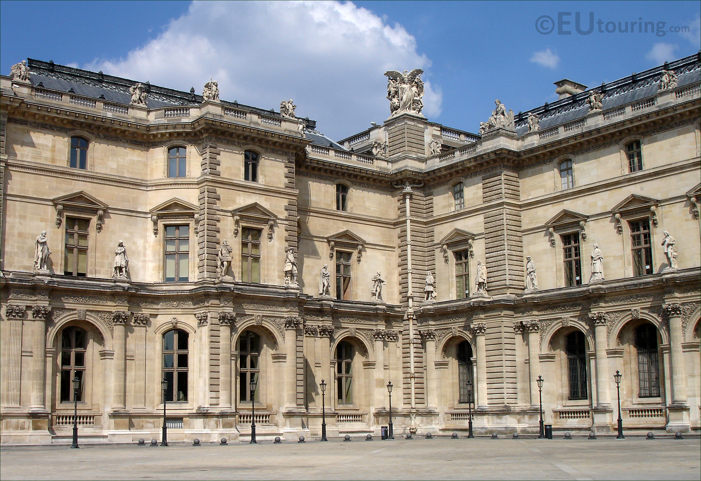 Corner of the Louvre Museum