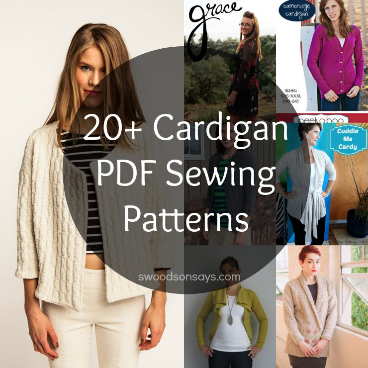 Women\'s Cardigan PDF Sewing Patterns - Swoodson Says