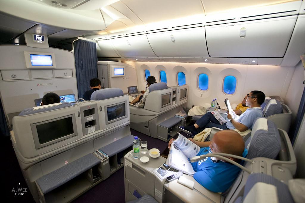 Business class cabin inflight