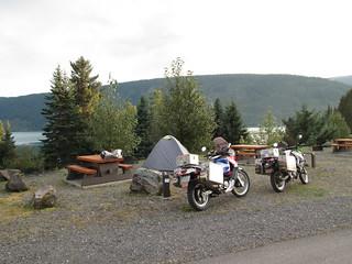 Camping at beautiful Meziadin Lake Provincial Park