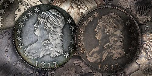 1817 over 4 half dollar