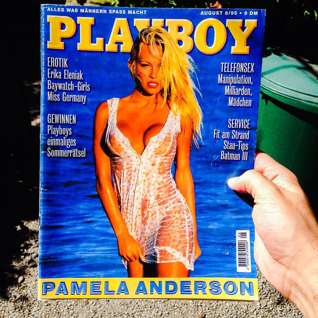 Exactly 20 years ago i bought my first and last playboy magazine. None other than baywatch superstar Pamela Anderson was cover girl in August 1995. #nicoleeggert #pamela #anderson #pamelaanderson #thepamelaanderson #tommylee #tommy #lee #baywatch #bay #w