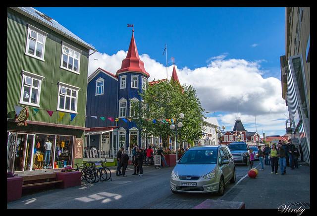 Paseo por Akureyri - Calle principal Hafnarstraeti