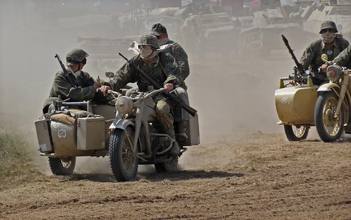 German Motorcycle and Sidecar