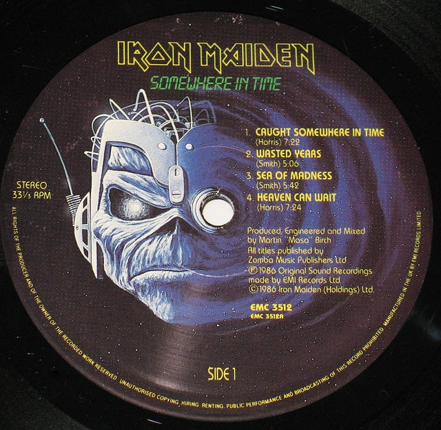 "IRON MAIDEN SOMEWHERE IN TIME UK 12"" Vinyl LP"