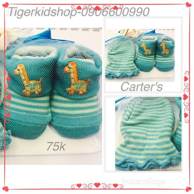 Quần áo trẻ em, bodysuit, Carter, đầm bé gái cao cấp, quần áo trẻ em nhập khẩu, M230-Túi lưới bao tay- vớ chân Carter's