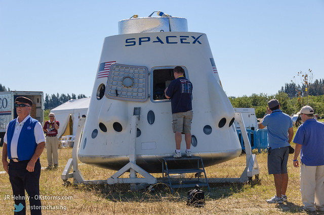 Fri, 11/02/2012 - 14:16 - A model of the SpaceX Dragon, with seats for 7 inside - November 02, 2012 2:16:44 PM - , (28.5134,-80.6750)