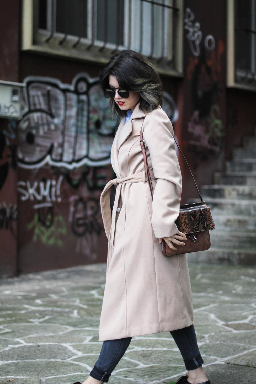 abrigo beige largo look con bolso paco martinez 2015 myblueberrynightsblog