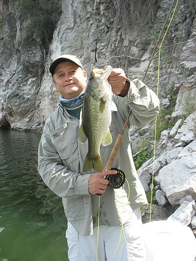 Pesca de Lobina con mosca 9