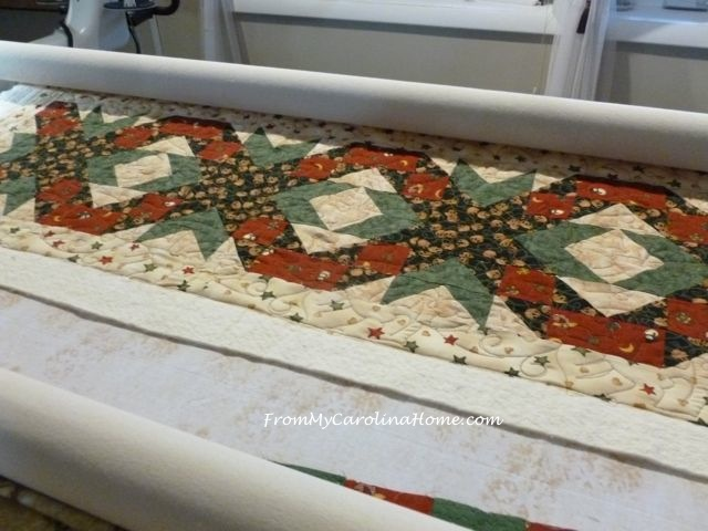 Christmas Quilt along quilting 5