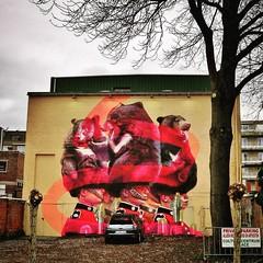 a #powerful @telmomiel #mural - #Deinze #graffiti #streetartbel #streetart_daily #urbanart