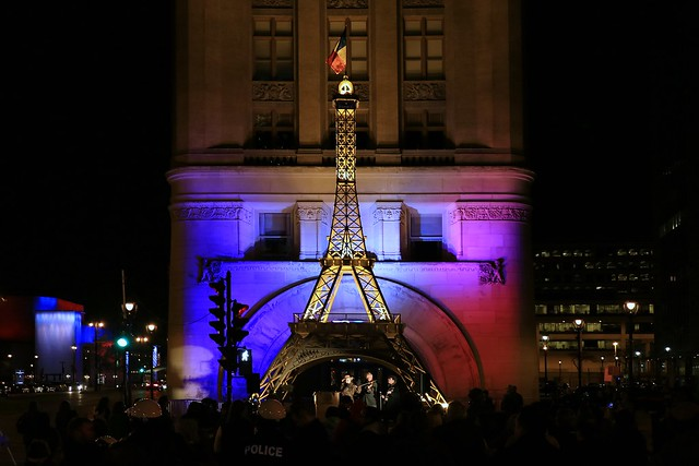 Vigil for the victims of the Paris terror attacks