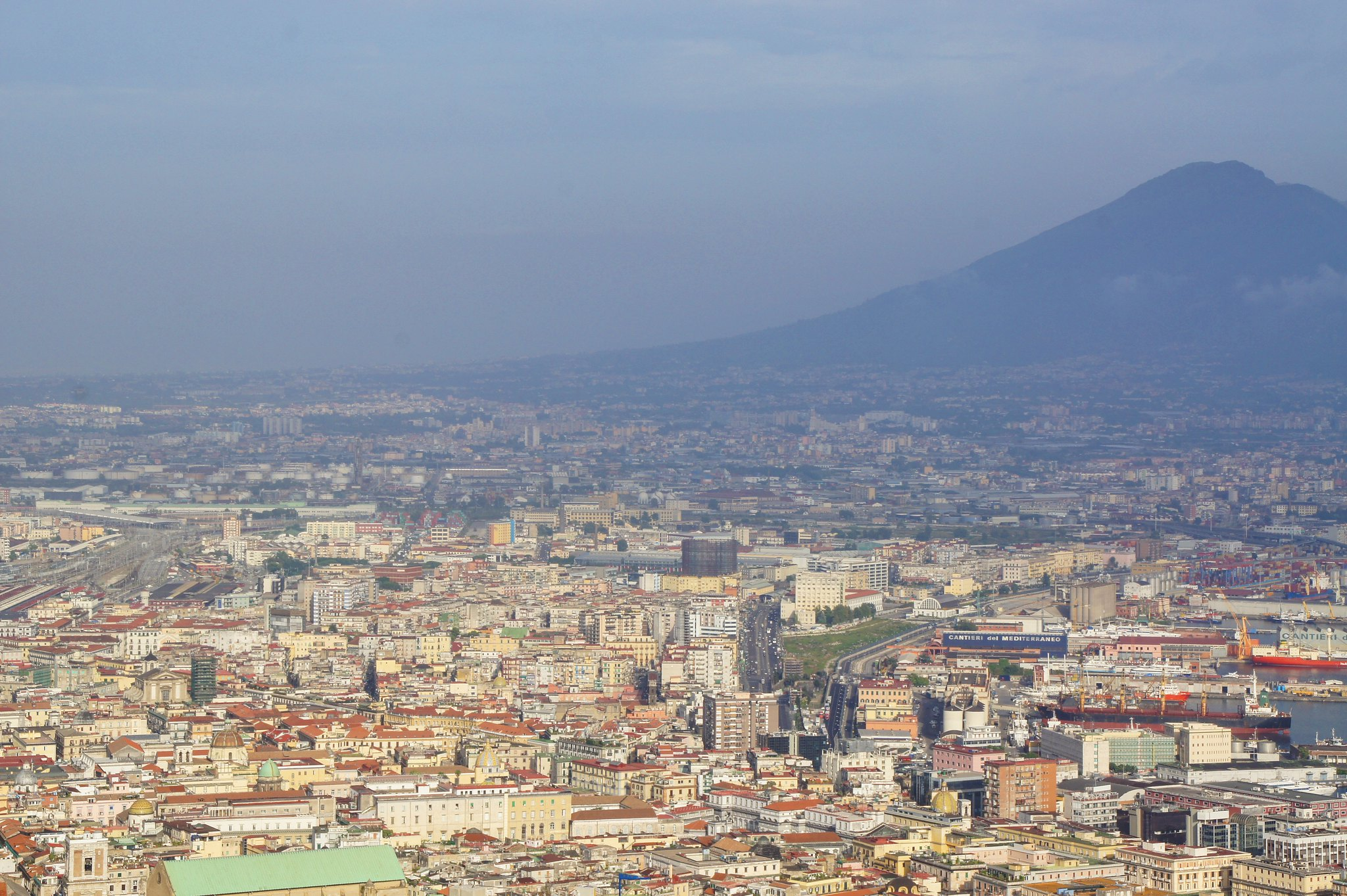 Vesuvius and Naples, view from Saint Elmo Castle