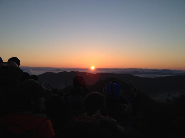 明王山 見晴台 初日の出