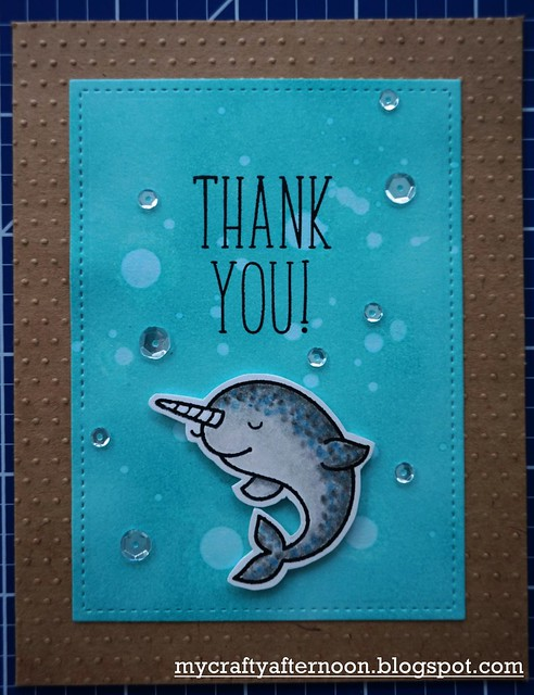 Thank You Card Series Narwhal