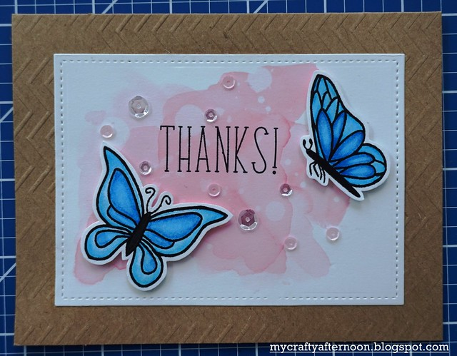 Thank You Card Series Butterflies
