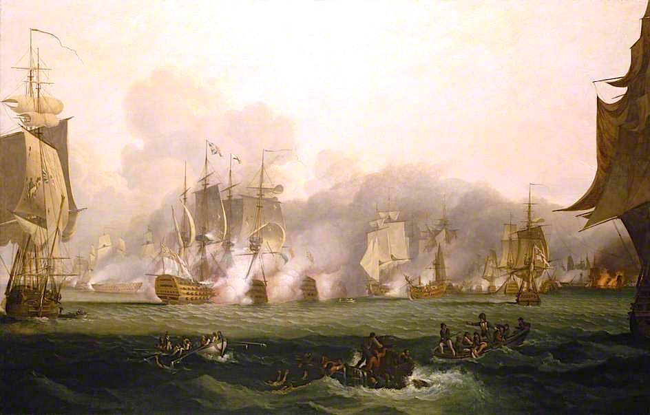 The Battle of Trafalgar, 21 October 1805 by Samuel Drummond