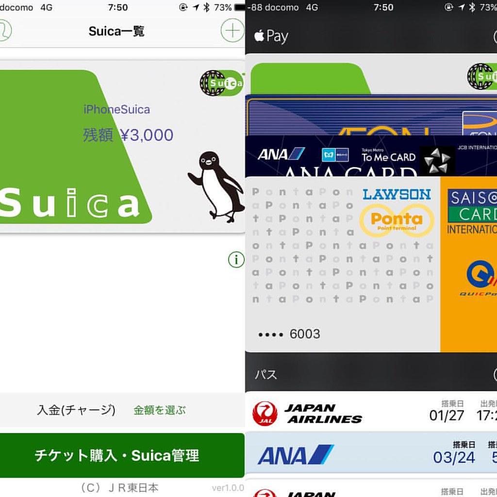 とりあえず入れられるクレカを入れてみる。SuicaなくてもSuicaアプリで仮想Suica発行できる。#ApplePay