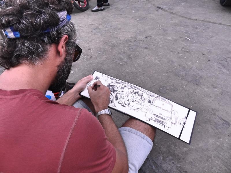 Urban sketchers in Jakarta
