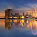 Singapore Skyline. Singapore `s business district by anekphoto