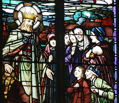 Nayland parishioners greet Christ the King by Robert Anning Bell, 1921