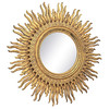 Oversized Carved Giltwood Sunburst Mirror by thehighboy